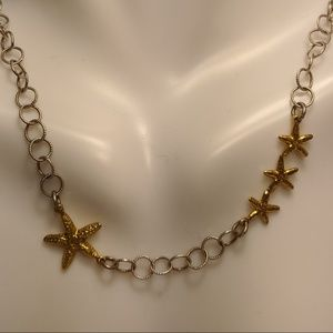 Jewelry - Sterling Silver Gold Vermeil Starfish Necklace